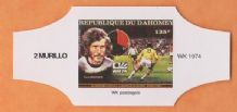 1974 World Cup Cigar Band West Germany Paul Breitner (White)